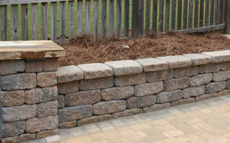 Stone Retaining Wall Blocks : Walls pillars evopavers
