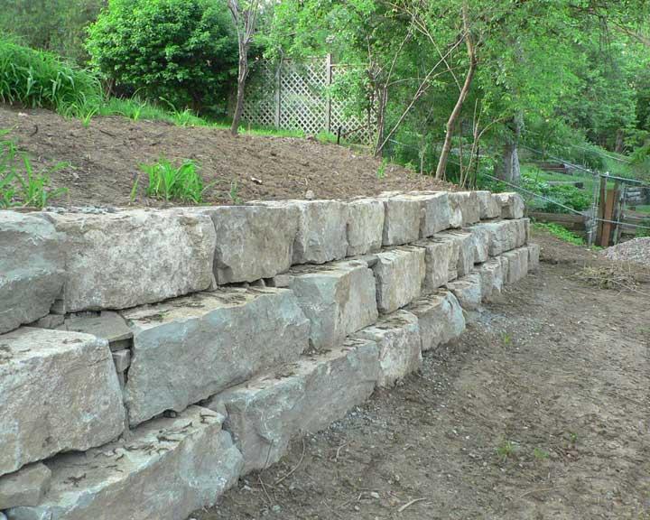 Stone Retaining Walls : Walls pillars evopavers